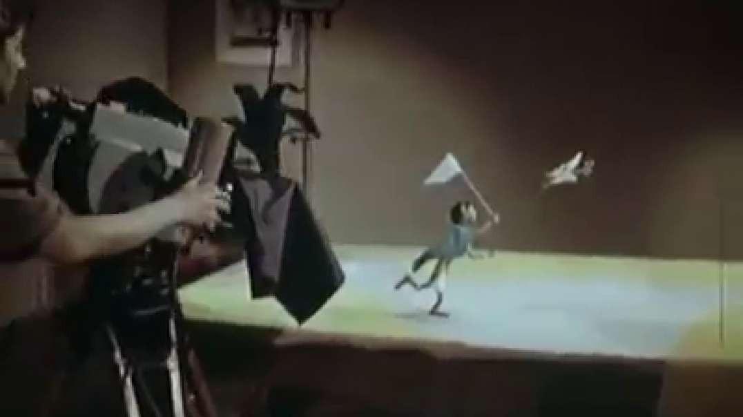 """Fazendo um filme animado. Trecho de """"Rivals"""" desenho soviético de Soyuzmultfilm studio, 19"""